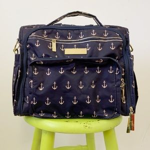 Jujube The Admiral Diaper Bag Navy Anchor Backpack